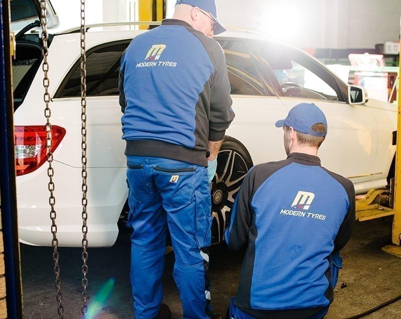 Modern Tyres Service uniforms