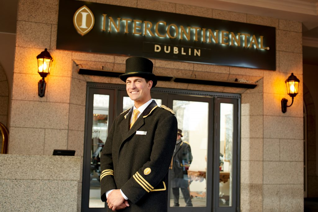 Intercontinental Dublin concierge uniform
