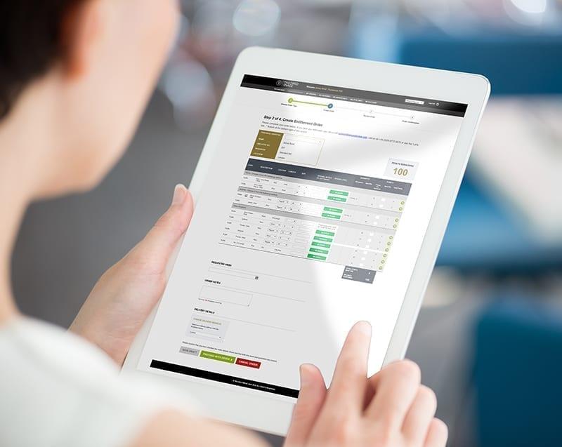 Online ordering portal