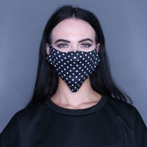 Polka Dot Print Mask