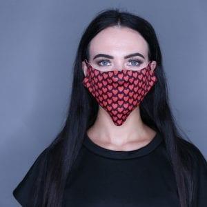 Heart Print Mask